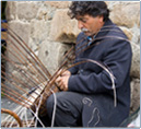 Photo: Basketmaker - Maison de Granit, Treguiers, France